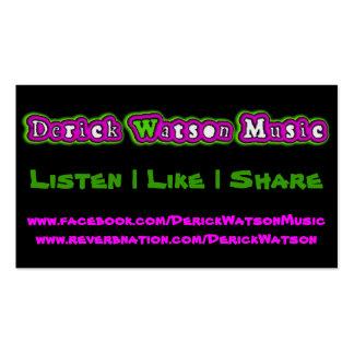 Promo de la música de Derick Watson Tarjetas De Visita