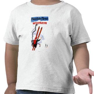Promo de madera de los esquís de Splitkein del Camiseta