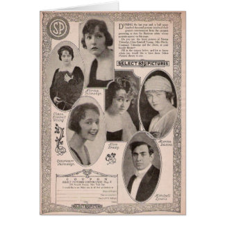 Promo joven de la película de Clara Kimball Marion Tarjeta De Felicitación