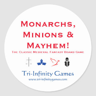 Promo Sticker: Monarchs, Minions & Mayhem! Classic Round Sticker