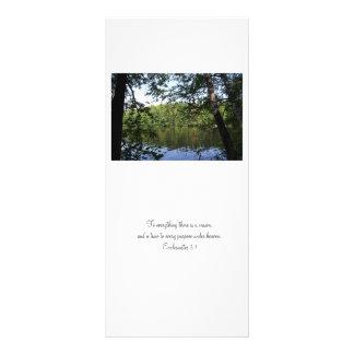 Promoción de la señal del bosque del lago Ecclesia Tarjeta Publicitaria