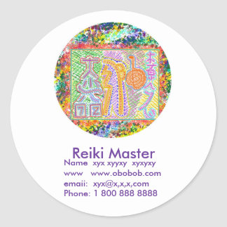 Promoción de ventas principal de Reiki Etiqueta Redonda