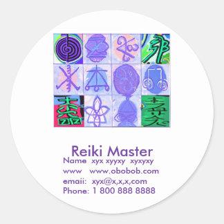Promoción de ventas principal de Reiki Pegatina Redonda
