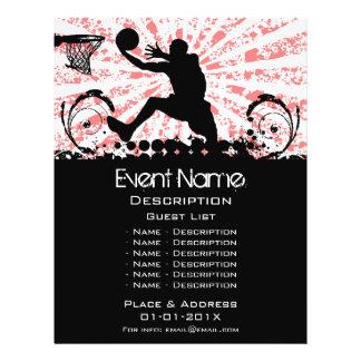 Promoción del acontecimiento del baloncesto tarjetones