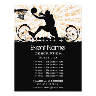 """Promoción del acontecimiento del baloncesto folleto 8.5"""" x 11"""""""