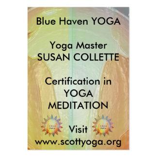 Promoción del negocio de la yoga n Reiki Tarjetas De Visita Grandes