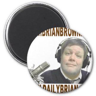 Promoción del Web site de Brian Brown Imán Redondo 5 Cm