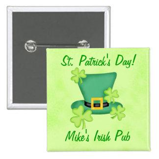 Promoción irlandesa del día del St. Patricks del Pin Cuadrado