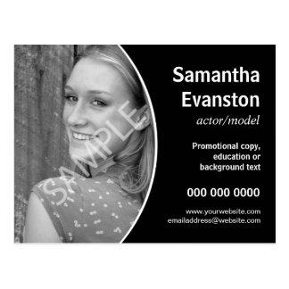 Promoción negra curvada Headshot de los Postales