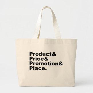 Promoción y lugar de comercialización del precio d bolsa tela grande