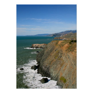 Promontorios de Marin acantilados costeros Posters
