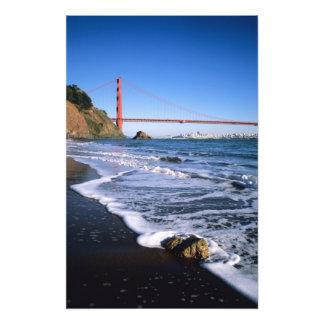 Promontorios de Marin, puente Golden Gate; San Fotografía