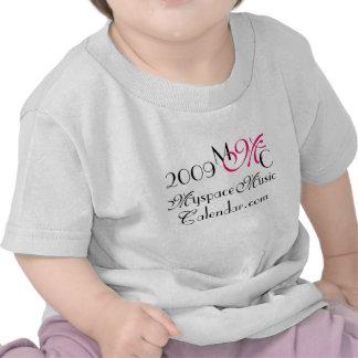 Promos de MyspaceMusicCalendar.Com 2009 MMC Camisetas