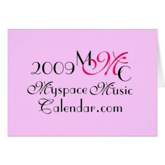 Promos de MyspaceMusicCalendar.Com 2009 MMC Tarjeta De Felicitación