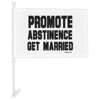 Promote Abstinence. Get married Car Flag