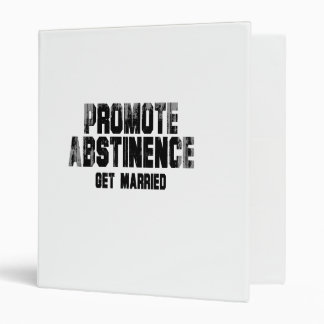 Promote abstinence get married Faded png Vinyl Binder