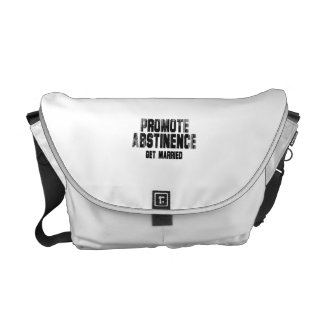 Promote abstinence. get married. Faded.png Messenger Bags