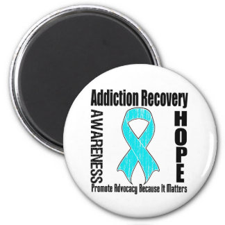 Promote Addiction Recovery Because It Matters 2 Inch Round Magnet