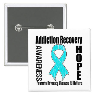Promote Addiction Recovery Because It Matters Pinback Button