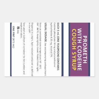 Promote codeine rectangular sticker