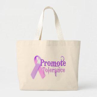 Promote Tolerance Large Tote Bag