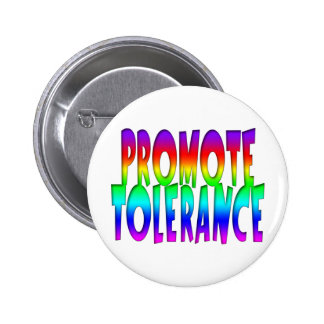 Promote Tolerance Rainbow Button