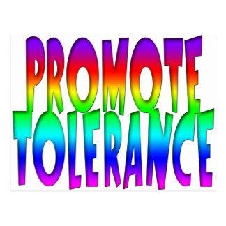 Promote Tolerance Rainbow Postcard