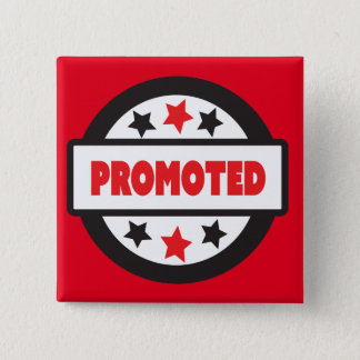"""Promoted STamp 5.1 cm (2"""") Square Badge Button"""