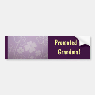 Promoted to Grandma! bumper stickers Lavender