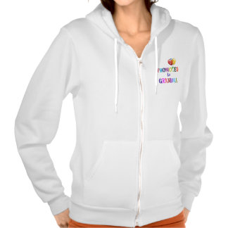 Promoted to Grandma, Colorful Design Hoodies