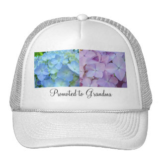 Promoted to Grandma hats Grandmother Floral