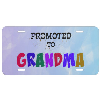 Promoted to Grandma License Plate