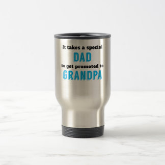 Promoted To Grandpa 15 Oz Stainless Steel Travel Mug