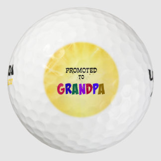 Promoted to Grandpa--Celebration! Golf Balls