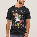 Promoted To Grandpa Est 2021 Unicorn T-Shirt