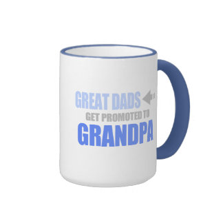 Promoted to Grandpa Ringer Mug