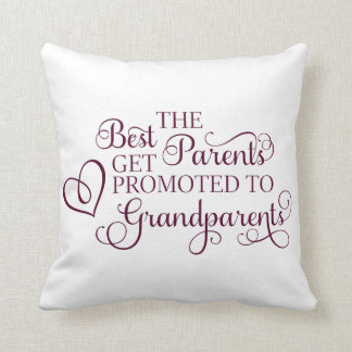 Promoted to Grandparents Pillow