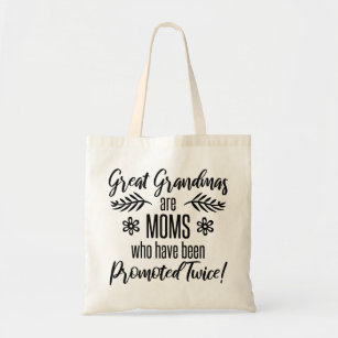 Promoted To Great Grandma Tote Bag