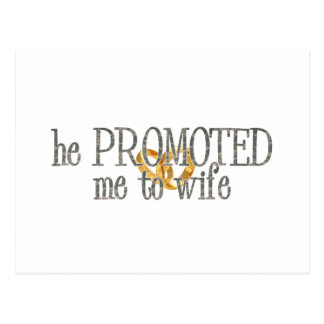 promoted to wife postcard