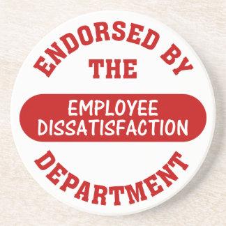 Promoting employee dissatisfaction & boring jobs sandstone coaster