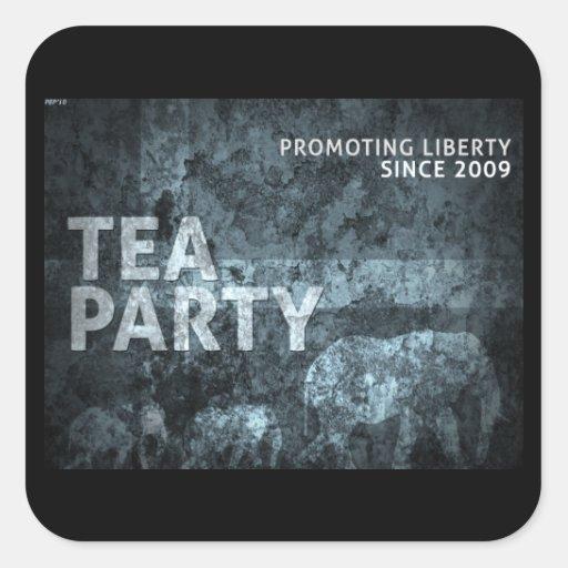Promoting Liberty Square Sticker
