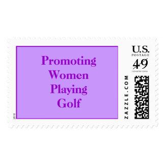 Promoting Women Playing Golf Postage Stamp