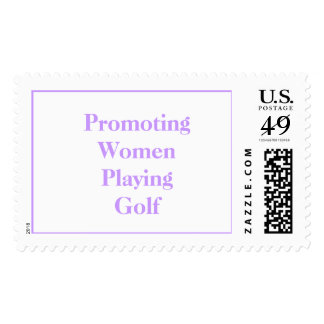 Promoting Women Playing Golf Stamps
