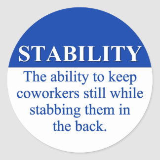 Promoting Workplace Stability (3) Classic Round Sticker