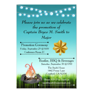Military promotion invitations announcements zazzle promotion celebration invitation stopboris Image collections