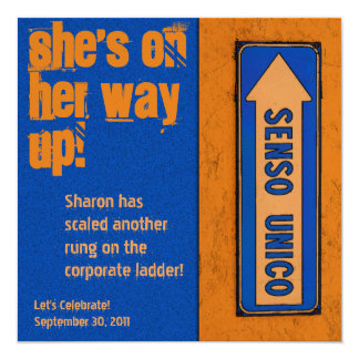 Promotion Party - She's on Her Way Up! Card