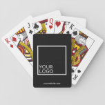 """Promotional Branded Playing Cards<br><div class=""""desc"""">Go beyond the typical promotional pen or notepad and give out a customizable deck of cards with your logo and website URL.     Design Tip: Bring branding customization to the next level by selecting a background color to match your brand color.</div>"""