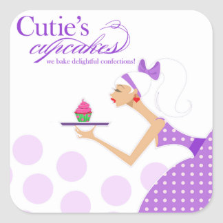 Promotional Cupcake Packaging Sticker
