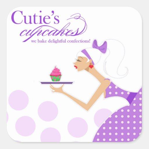 Promotional Cupcake Packaging Sticker
