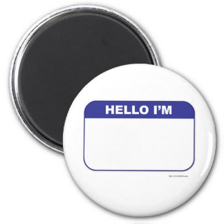 Promotional Custom Name Tag 2 Inch Round Magnet